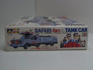 プラモデル 西部警察 日産 サファリ 4WD & タンク車 アオシマ製 1-24 -02