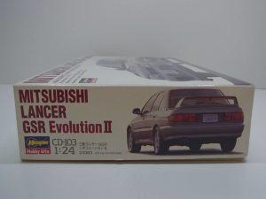 ハセガワ 1/24スケール 三菱 ランサー GSR エボリューションⅡ ( 2) (ランエボ) MITSUBISHI LANCER Evolution 4G63 DOHC TURBO- CD-103 / 24063--02