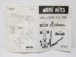 MK164 ウイリアムズ FW13B IMOLA 1990 MERI KITS メリ キット 1/43スケール-説明書-01