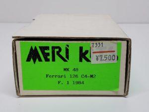 MK48 Ferrari フェラーリ 126C4-M2 1984MERI KITS メリ キット1/43スケール -02