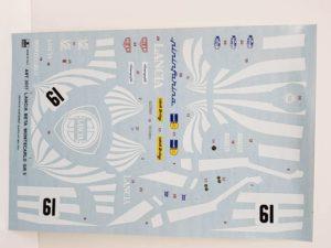 ESCI エッシー 1/24 ランチア ベータ モンテカルロ Gr.5 -デカール 01