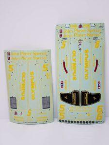 RC ラジコン タミヤ 1/10 JPS ロータス79 競技用スペシャル のシール2種類の画像-01