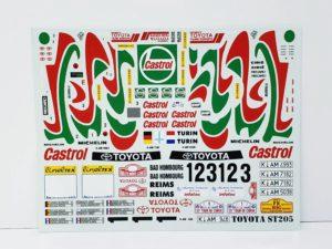 TK 07 トヨタ セリカ ST205 モンテカルロ ラリー(Monte Carlo Rally) Racing43 BIG MODEL 1/24スケールの付属デカール01
