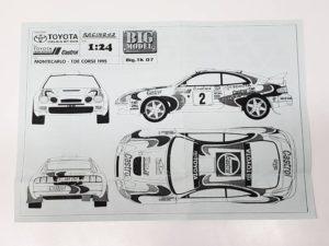 TK 07 トヨタ セリカ ST205 モンテカルロ ラリー(Monte Carlo Rally) Racing43 BIG MODEL 1/24スケールの説明書02