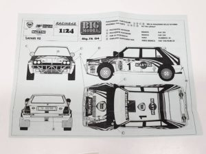 TK 04 ランチア デルタ 1992 サファリ ラリー(Safari Rally) Racing43 BIG MODEL 1/24スケールの説明書-01