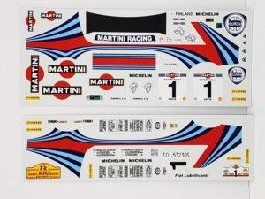 TK 04 ランチア デルタ 1992 サファリ ラリー(Safari Rally) Racing43 BIG MODEL 1/24スケールのデカールの画像-01