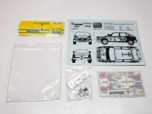 TK 05 ランチア デルタ 1991 サファリ ラリー(Safari Rally) Racing43 BIG MODEL 1/24スケールの全体像、展開図01