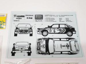 TK 05 ランチア デルタ 1991 サファリ ラリー(Safari Rally) Racing43 BIG MODEL 1/24スケールの説明書02