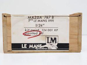 LeMans 1/24 Mazda 787B レジンキット マツダ ルマンの木製収納箱-03