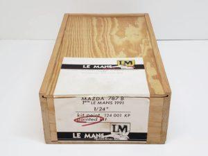LeMans 1/24 Mazda 787B レジンキット マツダ ルマンの木製収納箱-01