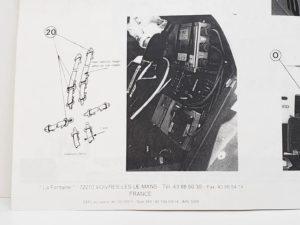 LeMans 1/24 Mazda 787B レジンキット マツダ ルマンの説明書の拡大撮影-03