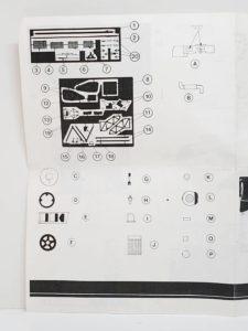 LeMans 1/24 Mazda 787B レジンキット マツダ ルマンの説明書の拡大撮影-01