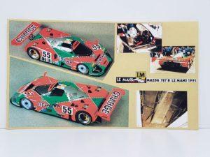 LeMans 1/87 Mazda 787B レジンキット マツダ ルマンの完成参考写真-01