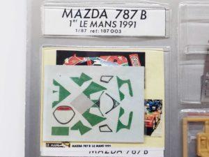 LeMans 1/87 Mazda 787B レジンキット マツダ ルマン-デカールと参考写真の拡大撮影-02
