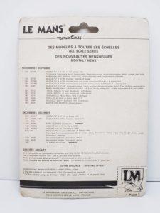 LeMans 1/87 Mazda 787B レジンキット マツダ ルマン-パッケージ裏面-01
