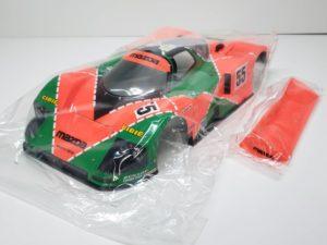 FINISHED BODY Ver. 電動 RC レナウン・チャージ・マツダ 787B 1991年 ル・マン 優勝車 #55 タミヤ 1/10スケール 塗装、マーキング済みのボディパーツ-01です。