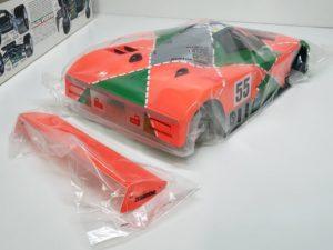 FINISHED BODY Ver. 電動 RC レナウン・チャージ・マツダ 787B 1991年 ル・マン 優勝車 #55 タミヤ 1/10スケール 塗装、マーキング済みのボディパーツ-02です。