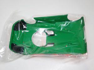 FINISHED BODY Ver. 電動 RC レナウン・チャージ・マツダ 787B 1991年 ル・マン 優勝車 #55 タミヤ 1/10スケール 塗装、マーキング済みのボディパーツの裏面-04です。