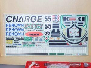 電動 RC レナウン・チャージ・マツダ 787B 1991年 ル・マン 優勝車 #55 タミヤ 1/10スケールのシール-01