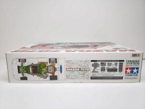 FINISHED BODY Ver. 電動 RC レナウン・チャージ・マツダ 787B 1991年 ル・マン 優勝車 #55 タミヤ 1/10スケールの外箱の側面-02です。
