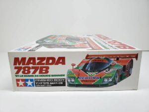 FINISHED BODY Ver. 電動 RC レナウン・チャージ・マツダ 787B 1991年 ル・マン 優勝車 #55 タミヤ 1/10スケールの外箱の側面-01です。
