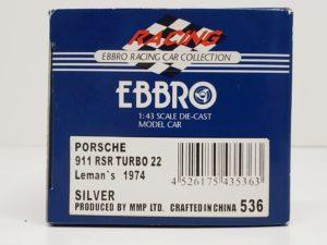 ミニカー エブロ 1/43 EBBRO 536 ポルシェ 911 RSR 1974 LM他-02
