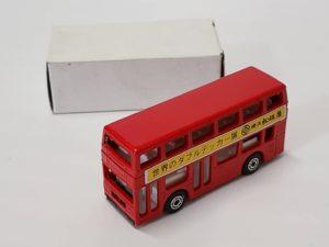 ミニカー 1/124 マッチボックス MATCHBOX 世界のダブルデッカー展 横浜 松坂屋 赤色 バス -01