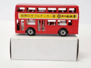 ミニカー 1/124 マッチボックス MATCHBOX 世界のダブルデッカー展 横浜 松坂屋 赤色 バス -03