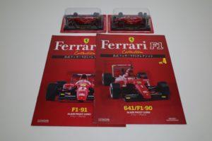 ミニカー フェラーリ F1-91/641/F1-90 A.Prost アシェット1/43 -01