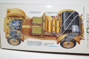 RC 電動ラジコン タミヤ 1/16 Pkw.K1 キューベルワーゲン 82型の箱絵拡大撮影-01