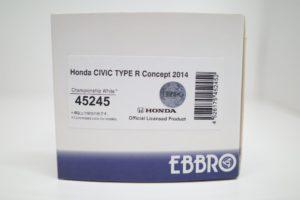 ミニカー エブロ 1/43 EBBRO 45245 ホンダ シビック タイプR コンセプト チャンピオンシップ ホワイト-03