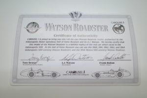 Watson Roadsterロードスター 1962 カルーセル CAROUSEL 1-18- 04