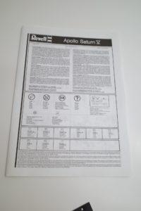 プラモデル レベル 1/96 Revell アポロ サターンV型 ロケット 04805 の説明書 -01