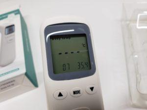 中国製 温度計 非接触 赤外線 赤外線測定 スピード 32回値メモリー機能 1秒検温 ZIPOM JP INC-12