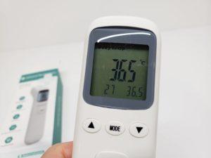 中国製 温度計 非接触 赤外線 赤外線測定 スピード 32回値メモリー機能 1秒検温 ZIPOM JP INC-18