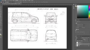 マニアモデルファイル 愛車 旧規格 HA21S/HB11S スズキ アルトワークス の自作 ミニカー 模型作り-型紙加工-02