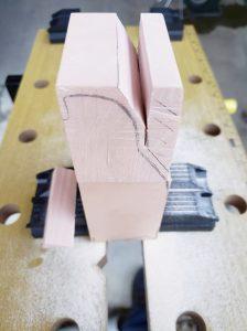 マニアモデルファイル 愛車 旧規格 HA21S/HB11S スズキ アルトワークス の自作 ミニカー 模型作り-不要箇所の切断-07