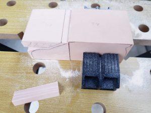 マニアモデルファイル 愛車 旧規格 HA21S/HB11S スズキ アルトワークス の自作 ミニカー 模型作り-不要箇所の切断-08