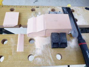 マニアモデルファイル 愛車 旧規格 HA21S/HB11S スズキ アルトワークス の自作 ミニカー 模型作り-不要箇所の切断-14