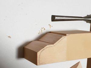 マニアモデルファイル 愛車 旧規格 HA21S/HB11S スズキ アルトワークス の自作 ミニカー 模型作り-カービングナイフ試し切り-01