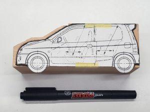 マニアモデルファイル 愛車 旧規格 HA21S/HB11S スズキ アルトワークス の自作 ミニカー 模型作り-型紙確認-01