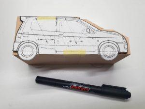 マニアモデルファイル 愛車 旧規格 HA21S/HB11S スズキ アルトワークス の自作 ミニカー 模型作り-型紙確認-02