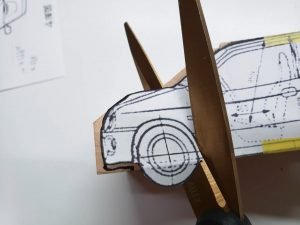 マニアモデルファイル 愛車 旧規格 HA21S/HB11S スズキ アルトワークス の自作 ミニカー 模型作り-車軸中心決め-04