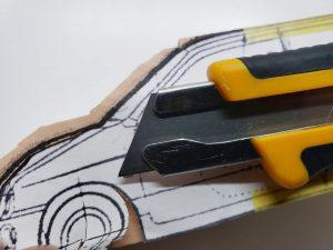 マニアモデルファイル 愛車 旧規格 HA21S/HB11S スズキ アルトワークス の自作 ミニカー 模型作り-車軸中心決め-03