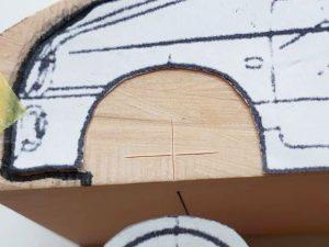 マニアモデルファイル 愛車 旧規格 HA21S/HB11S スズキ アルトワークス の自作 ミニカー 模型作り-車軸中心決め-02