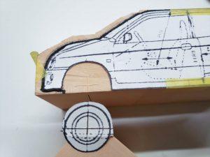 マニアモデルファイル 愛車 旧規格 HA21S/HB11S スズキ アルトワークス の自作 ミニカー 模型作り-車軸中心決め-05