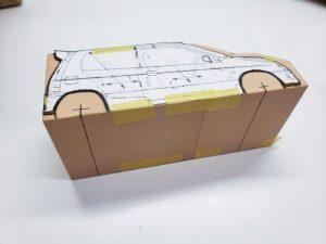 マニアモデルファイル 愛車 旧規格 HA21S/HB11S スズキ アルトワークス の自作 ミニカー 模型作り-車軸中心決め-07