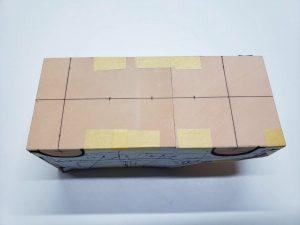 マニアモデルファイル 愛車 旧規格 HA21S/HB11S スズキ アルトワークス の自作 ミニカー 模型作り-車体中心線を引く-05
