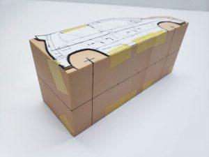 マニアモデルファイル 愛車 旧規格 HA21S/HB11S スズキ アルトワークス の自作 ミニカー 模型作り-車体中心線を引く-04