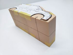 マニアモデルファイル 愛車 旧規格 HA21S/HB11S スズキ アルトワークス の自作 ミニカー 模型作り-車体中心線を引く-03